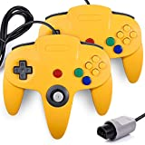 miadore 2 Set Retro 64-bit N64 Gamepad Joystick para N64 Konsole N 64 Sistema y 6 ft/1.8 M N64 cordón alargador para N64 Controlador N64 Consola de Juego