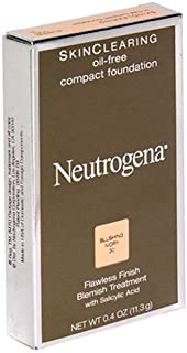 Neutrogena Skin Clearing Oil-Free Compact Foundation, Blushing Ivory 30, 0.4 Ounce (11.3 g) (Pack of 2)
