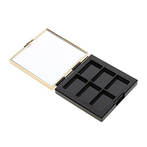 Sharplace Set 2pcs Coffret Palette de Maquillage Vide pour Rangement et DIY Poudre Compact Cosmétique/Ombre à Paupières/Rouge à Lèvres + Miroir