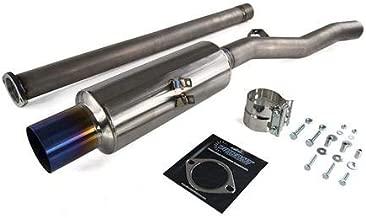 ETS 08-16 Mitsubishi Evolution X Titanium Single Exit Exhaust System (Blue Tip)