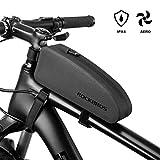 ROCKBROS Fahrrad Rahmentasche wasserdichte Oberrohrtasche für MTB, Rennrad L (23.5 * 6.5 * 10.5cm) 1,6L