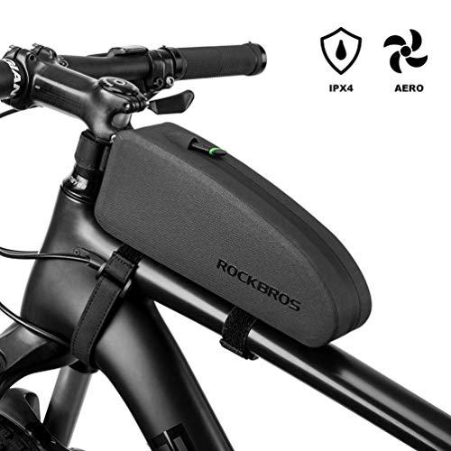 ROCKBROS Fahrrad Rahmentasche wasserdichte Oberrohrtasche für MTB, Rennrad M (21.5 * 5.5 * 8.5cm) 1L