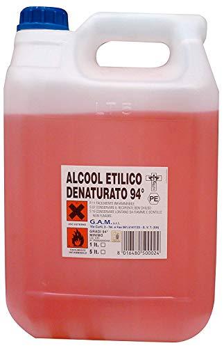Alcool Etilico Denaturaturato 94% / 90% - 5 Lt - Cura Farma ASIN :B085TJZW32 (Alcool Etilico Denaturaturato 94% - 5 Lt)