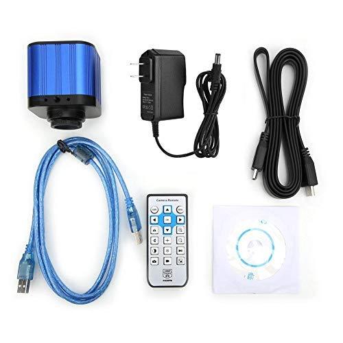 nobrand - Telecamera per Microscopio USB HDMI 4K Kit Microscopio Digitale Industriale a Montatura C con Supporto PC Telecomando per Windows XP/7/8/10 (Presa 100-240V US)