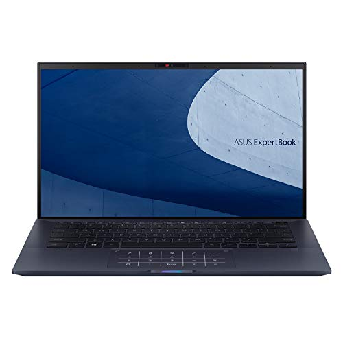 ASUS ExpertBook B9450FA - 14' IPS Full HD screen (Intel i7-10510U, 8GB RAM, 512GB NMVe M.2 PCIe SSD, Backlit Keyboard, TPM, WiFi-6, NumberPad, Win 10 Pro) - Includes Carry Sleeve & Micro HDMI Dongle