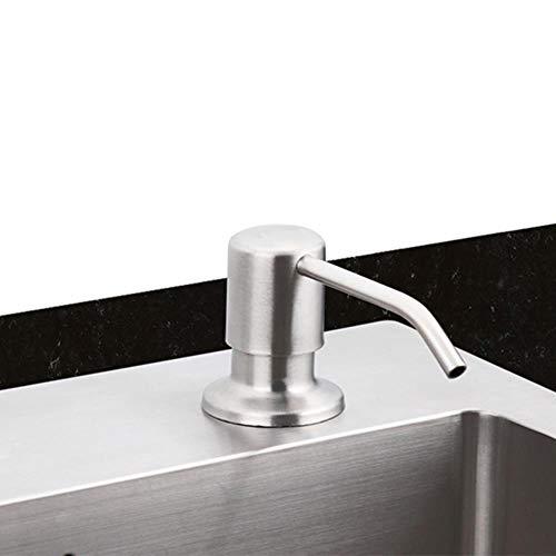5151BuyWorld, waterkraan, zeepdispenser, vloeibare zeep, voor keuken, badkamer, keuken, flessen van kunststof, gootsteen, handzeep, vloeibaar wasmiddel, dispenser F405-1d