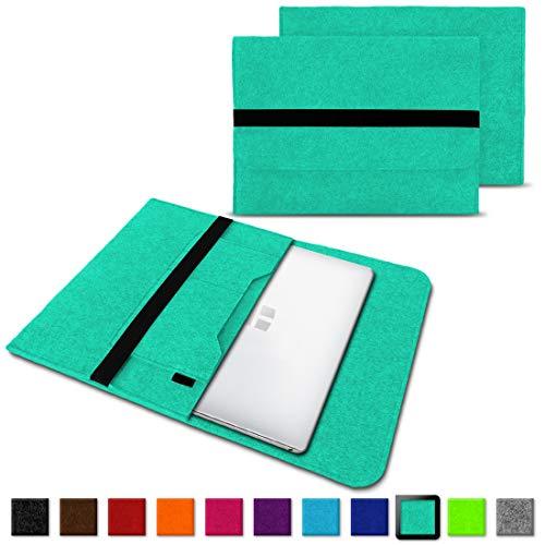 NAUC Laptoptasche Sleeve Schutztasche Hülle für Trekstor Surfbook W1 W2 Netbook Ultrabook 14,1 Zoll Laptop Filz Case, Farben:Mint