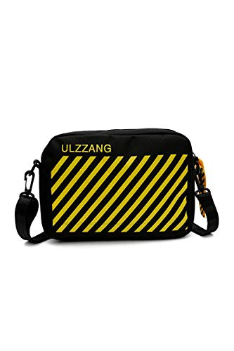 Howoo Damen Oxford Tuch Klein Schultertasche Cool Quadratische Tasche Mini Handtasche Mode Beiläufig Umhängetasche schwarz