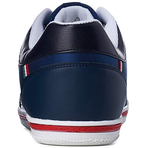 Alpine Swiss Mens Stefan Navy Suede Trim Retro Fashion Sneakers 10 M US
