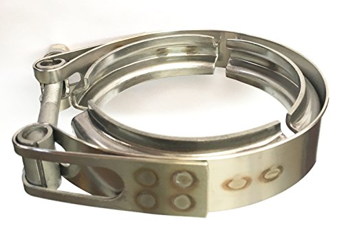 """Ticon Industries - 3"""" Stainless Steel V-Band Clamp (qty1) - Heavy Duty Bolt - 119-07600-0000"""