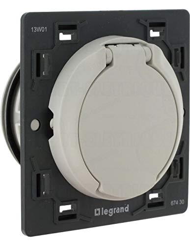 Legrand 067430 Prise D aspiration Centralisée Céliane sans Contact Livrée avec Enjoliveur, Blanc