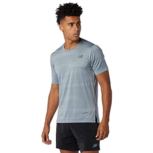New Balance MT03261 Camiseta Deportiva para Hombre, Athletic Grey, S