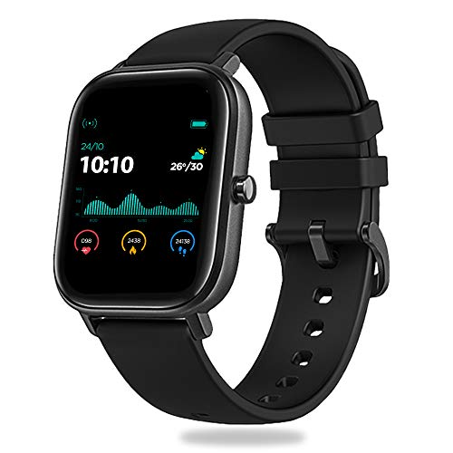Pebble Pace Smart Watch with Oximeter Function for SpO2 (Blood Oxygen) Monitoring with Full Touch Dynamic Colour Display, Multiple Sports Mode, HR, Sleep and BP Monitoring (Black)