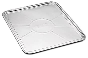 """10-Pack Disposable Foil Oven Liners by DCS Deals – Keep Your Oven Clean and Healthy – Perfect Silver Foil Drip Pan Tray for Cooking Baking Roasting and Grilling- 18.5 x15.5"""" inch"""