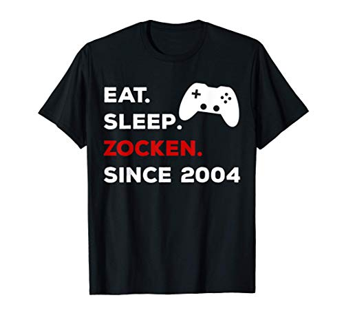 17. Geburtstag Mädchen Junge 2004 Gamer Zocker Geschenk T-Shirt