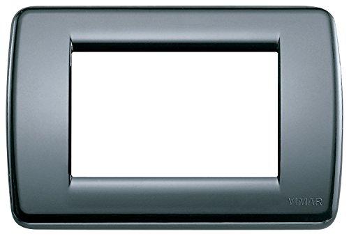 VIMAR 16763.15 Idea Placca Rondò 3 moduli in tecnopolimero, grigio grafite