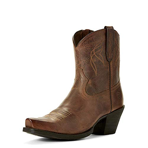 Ariat Women's Delilah Round Toe Work Boot, Distressed Brown, 6.5 B US