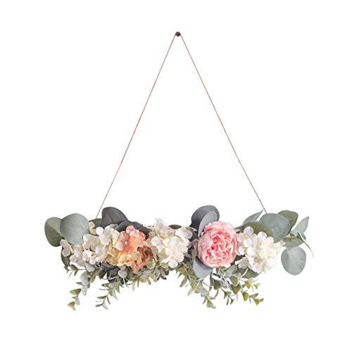 PowerBH Einfache nordische Art künstliche getrocknete Blumen-Wandbehänge trocknen Niederlassungen künstliche Kranz-Ausgangshochzeits-Dekoration