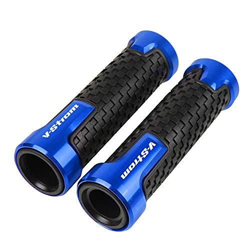 22mm 7/8''Puño de Manillar para Suzuki Vstrom V-Strom 650 1000 DL650 DL1000(Azul)