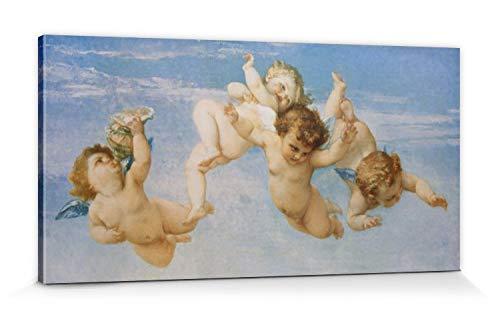 1art1 Alexandre Cabanel - Pequeños Ángeles, El Nacimiento De Venus, 1863, Detalle Cuadro, Lienzo Montado sobre Bastidor (120 x 60cm)