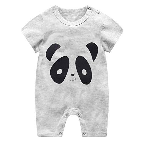 N-B Mameluco de algodón para bebé, Ropa de una Pieza de Manga Corta para bebé, Ropa Unisex para bebé, Monos para niñas y niños, Jirafa