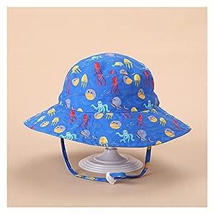 `Star Empty Sombreros para niños, Sombreros del sol de primavera y verano para hombres y mujeres, sombreros de playa transpirables y de secado rápido, protector solar infantil Sombrero de pescador aju