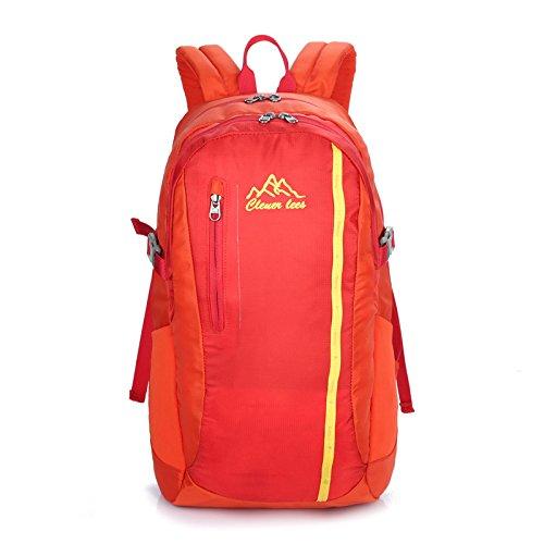 Outdoor Skin sac à dos d'ordinateur Bag Student Pack grande capacité légère multifonctions loisir shopping randonnée cyclisme pour hommes et femmes 5 couleur H44 x W27 x T18CM , red