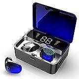 Ecouteur Bluetooth, IPX7 Ecouteur sans Fil Bluetooth 5.0 avec Micro, 100H Playtime Oreillette...