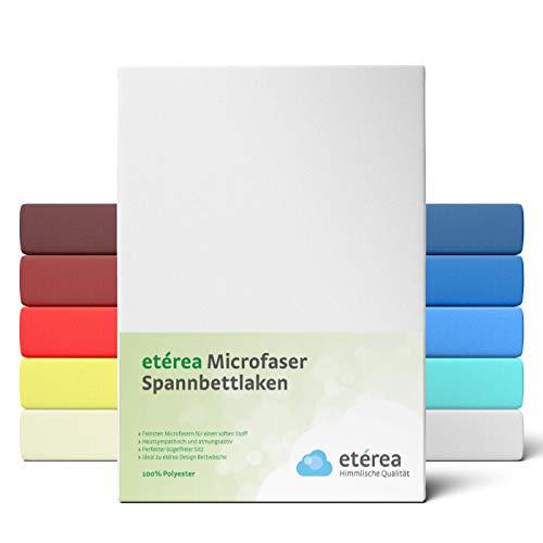 #6 Etérea Classic Microfaser Interlock Kinder-Spannbettlaken, Spannbetttuch, Bettlaken, 60x120 - 70x140 cm, Weiß