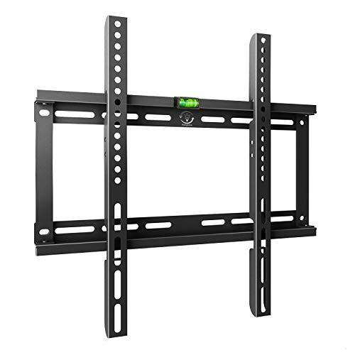 Famgizmo Soporte para TV Pared de Televisor 22-55 Pulgadas (55-140cm) de Pantalla Plana(LED LCD Plasma 4K 3D), Máx Vesa 400x400mm, hasta 50kg(110lbs), Negro, con Nivel de Burbuja