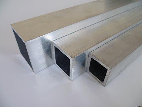 B&T Metall Aluminium Rechteckrohr 025x025x02 mm aus AlMgSi0,5 F22 schweissbar eloxierfähig Länge ca. 1.5 mtr. (1500 mm +/-5 mm)