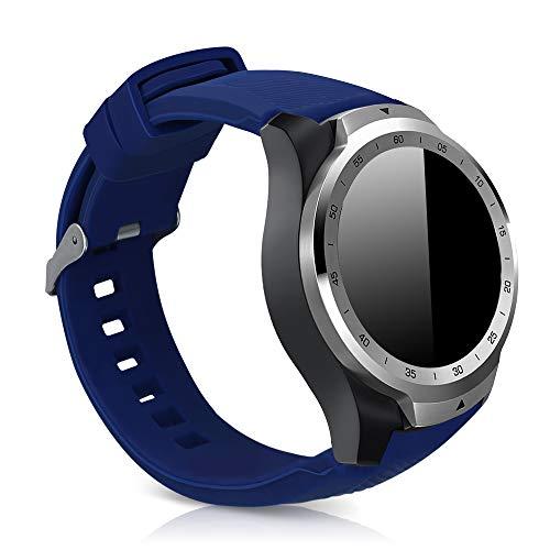 kwmobile Cinturino Compatibile con Ticwatch PRO Smartwatch - in TPU Silicone - Fascetta ca. 14-22 cm con Fibbia