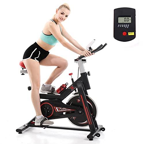 Bicicleta estática de Spinning Profesional Masa de Volante de 7KG Correa silenciosa con Pantalla LCD Sillín Ajustable Máx.120kg