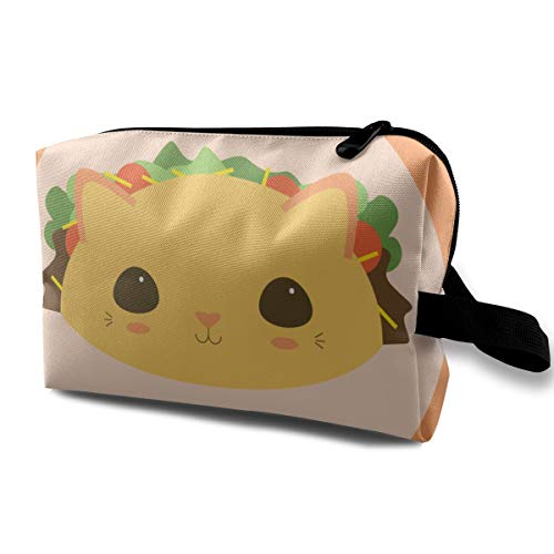 Culora Taco Cat Hamburg Storage Bag Travel Cosmetic Bag for Women, Cosmetic Bag, Toiletries Bag.