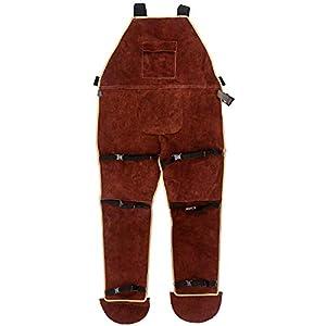 QWORK Leather Welding Apron with Split Legg 21