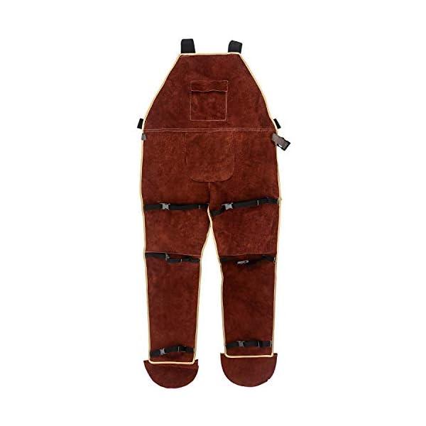 QWORK Leather Welding Apron with Split Legg 1