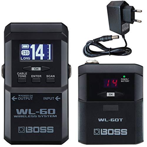 Boss WL-60 draadloos draadloos systeem voor gitaar + keepdrum voeding 9V