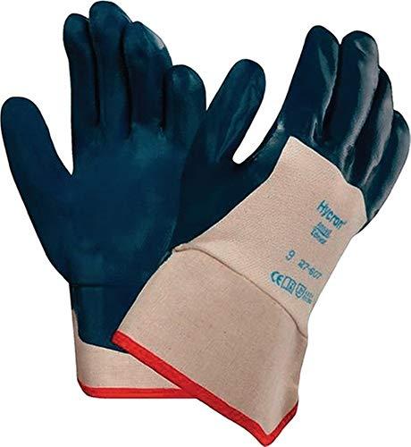 Ansell Handschuhe Hycron 27-607, Größe 10 weiß/blau, 12 Paar
