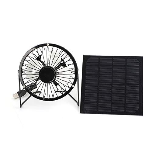 USB-Solarpanel Eisen-Ventilator, betrieben für Außenbereich, Wohnung, Kühlung