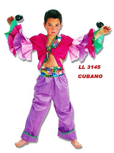 Llopis Disfraz de Cubano Morado (Talla Infantil, 7 a 9 Años)