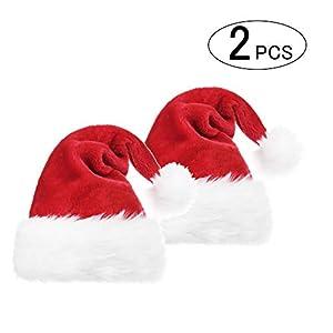 サンタ帽子 クリスマス帽子 コスプレ 変装 パーティー 大人用コスチューム用小物 クリスマスコスプレ 仮装 衣装 コスチュームグッズ 暖かい 大きめ メンズ レディース共用 2枚セット