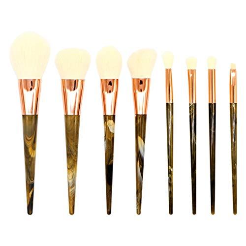 Dinglong Maquillage beauté,Professional 8 pcs pinceau outil fard à paupières brosse brosse beauté maquillage brosse ensemble (A)