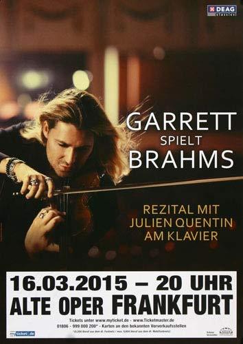 David Garrett - Explosive, Frankfurt 2015 » Konzertplakat/Premium Poster   Live Konzert Veranstaltung   DIN A1 «