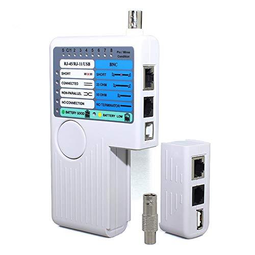 DAXGD Remote RJ11 RJ45 USB BNC LAN Netzwerkkabel Tester für UTP STP LAN Kabel Tracker