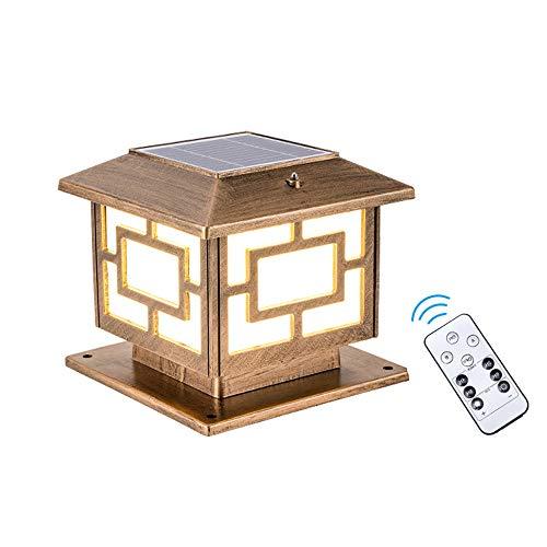 AWISAWIS Exterior Luz de Farola Solar, IP65 Impermeable Luces de Jardín con...