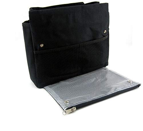 Periea Handtaschen-Organiser Geldbeutel-Einsatz 7 große Fächer Schwarz - Tera