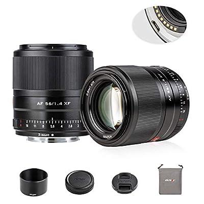 VILTROX 56mm F1.4 Auto Focus APS-C Frame Lens for Fuji X Mount, STM Motor Internal Focus Large Aperture Portrait Fixed Focus Lens for Fujifilm Camera X-A2 X-M1 X-A20 X-T3 X-T100 X-H1 X-Pro2 X-Pro3 by Weiying