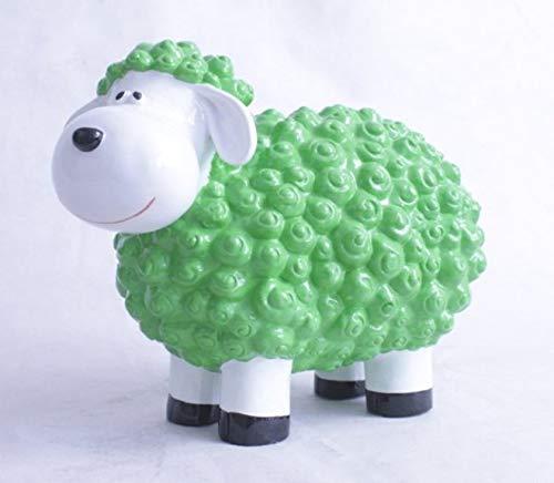 Vamundo Süßes Deko-Schaf XL für den Garten - GRÜN