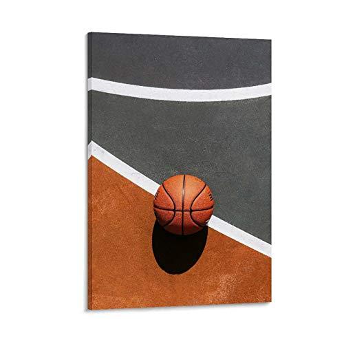 NBEI Póster creativo de baloncesto en lienzo y arte de pared, impresión moderna para dormitorio familiar, 60 x 90 cm