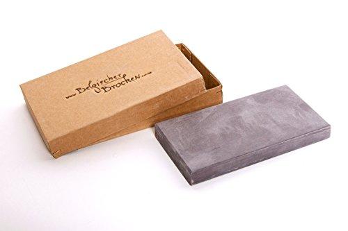 Belgischer Brocken piedra afiladora azul 100x60 mm. Piedra de afilar finamente para cuchillas, instrumentos quirúrgicos, maquinillas de afeitar